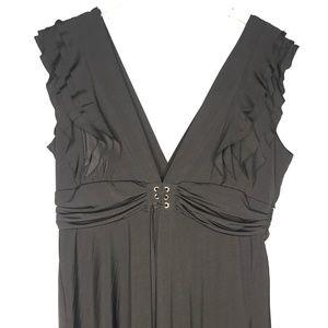Lacle Selection Dresses - Lacle Selection Black Ruffled Maxi Dress A130736